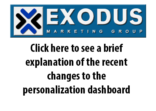 Changes to your personalization dashboard